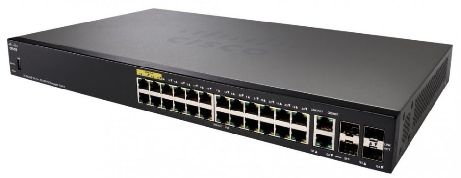 Cisco SF350-24P 24-port 10/100 POE Managed Switch