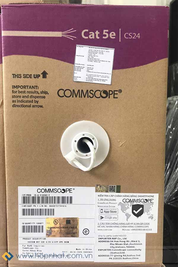cáp mạng Cat5e Commscope