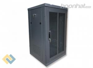 Tủ rack 20U D600 cửa lưới màu đen