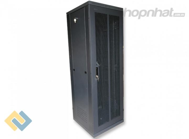 Tủ rack 36U D600 2 cửa lưới màu đen - Báo giá phân phối Tủ rack 36U D600 2 cửa lưới màu đen chính hãng