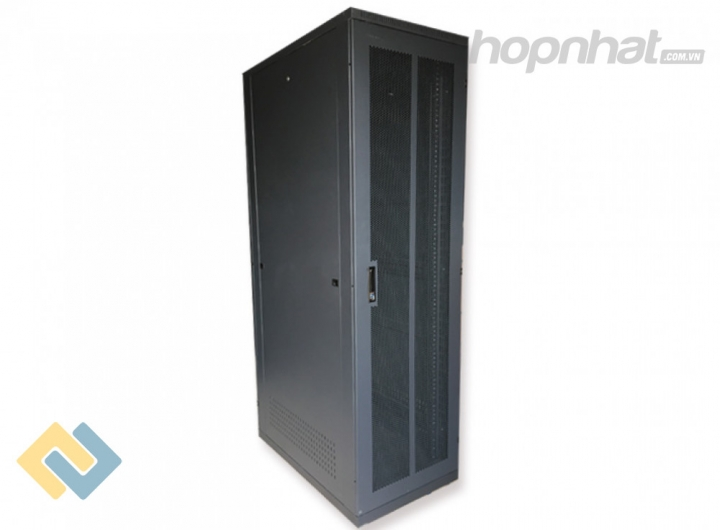 Tủ rack 42U D1000 2 cửa lưới màu đen - Báo giá phân phối Tủ rack 42U D1000 2 cửa lưới màu đen chính hãng