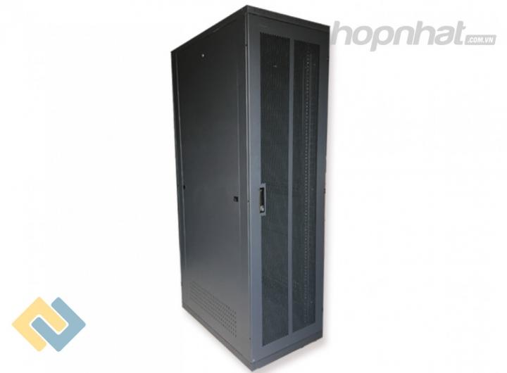 Tủ rack 42U D600 2 cửa lưới màu đen - Báo giá phân phối Tủ rack 42U D600 2 cửa lưới màu đen chính hãng