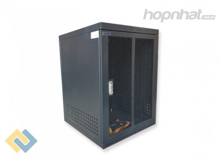 Tủ rack 15U D800 màu đen cửa lưới - Báo giá phân phối Tủ rack 15U D800 màu đen cửa lưới chính hãng
