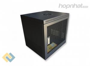 Tủ rack 10U D500 màu đen cửa lưới