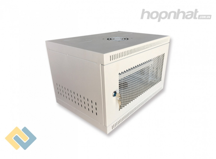 Tủ rack 6U D400 màu trắng - Báo giá phân phối Tủ rack 6U D400 màu trắng chính hãng