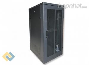 Tủ rack 27U D600 cửa lưới màu đen