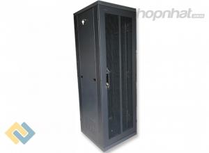 Tủ rack 36U D800 2 cửa lưới màu đen