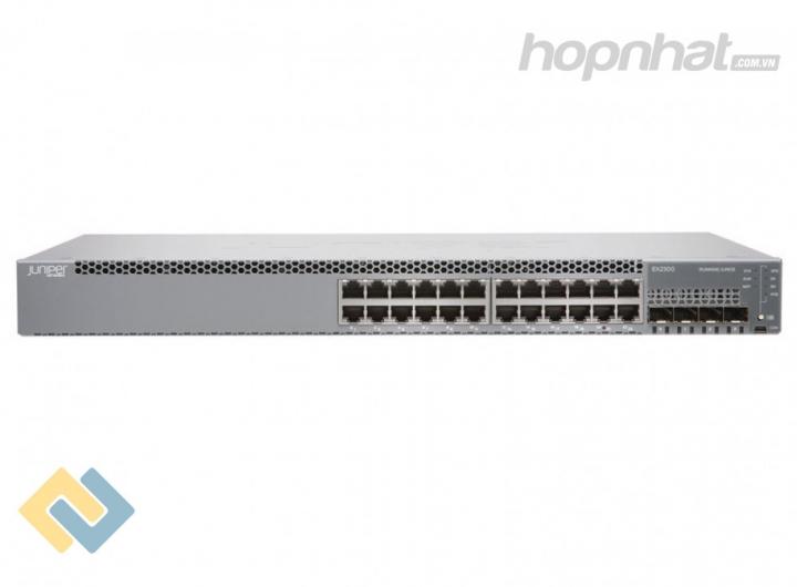 EX2300-24T-DC - Juniper EX2300-24T-DC 24 Port 10/100/1000BASE-T, 4 x 1/10GbE SFP/SFP+ DC PSU