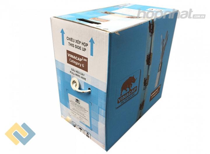 Cáp mạng cat6 UTP Vinacap - Báo giá phân phối Cáp mạng cat6 UTP Vinacap chính hãng