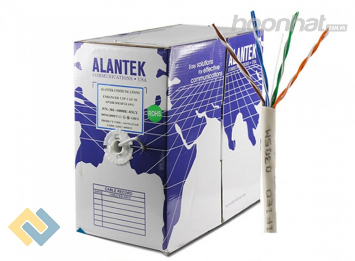 Cáp mạng Cat5e UTP Alantek