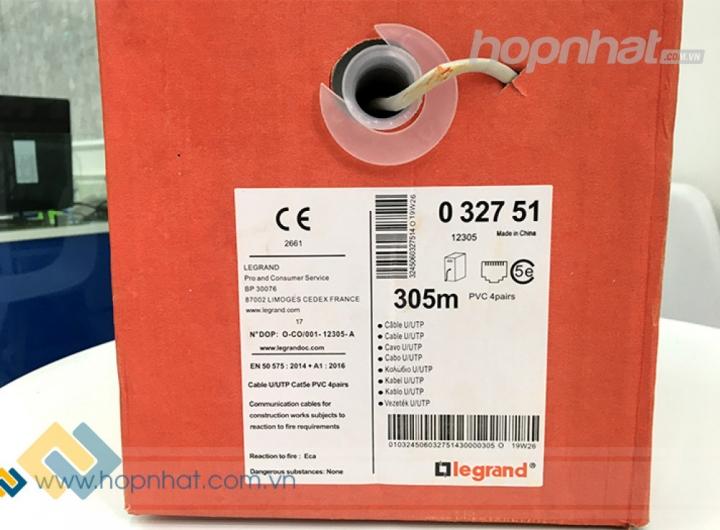 Dây cáp mạng Cat5e UTP hãng Legrand P/N: 032751 cuộn 305m giá rẻ